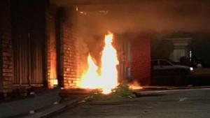 Fire from wheelie bin