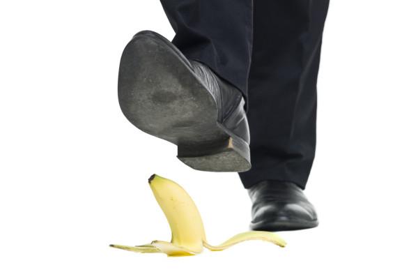 Banana peel slip